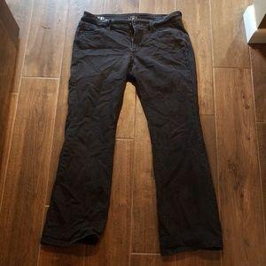 LOFT Curvy Bootcut black denim jeans, petite